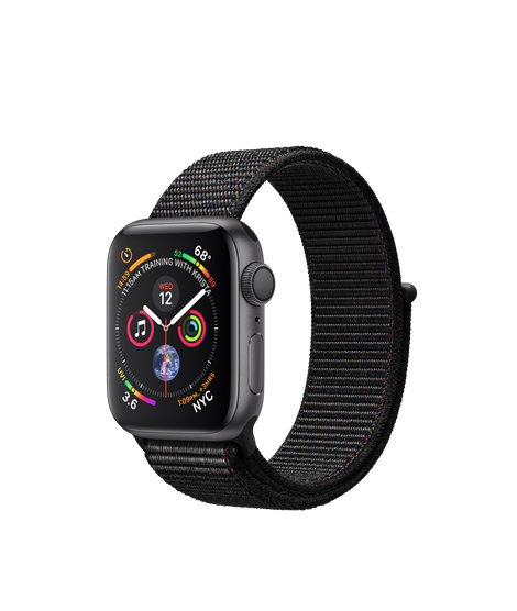 AW4 GPS 40MM Space Gray Aluminum Case with Black Sport Loop