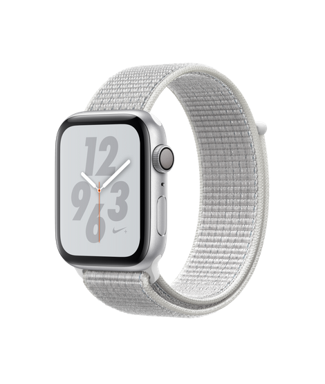 AW4 GPS 44MM Nike+ Silver Aluminum Case with Summit White Nike Sport Loop