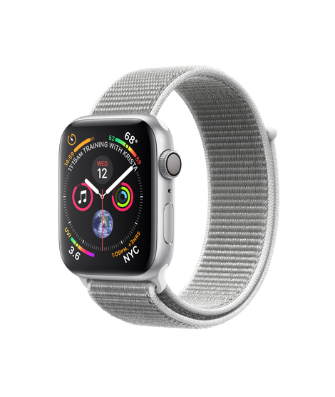 AW4 GPS 44MM Silver Aluminum Case with Seashell Sport Loop