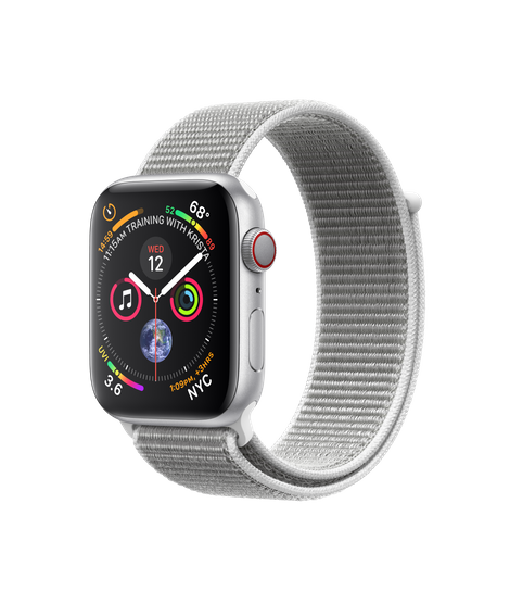 Apple Watch Series 4 LTE 44MM Silver/Seashell Sport Loop - MTVT2