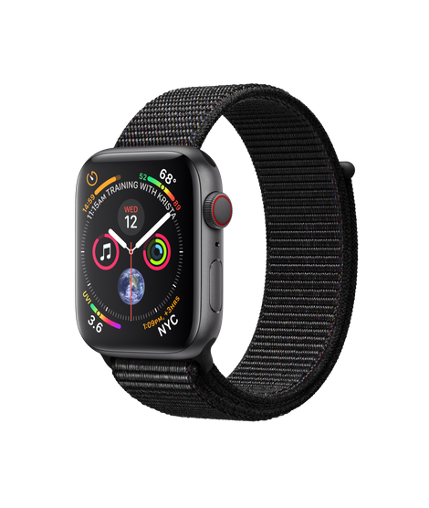 Apple Watch Series 4 LTE 44MM Gray/Black Sport Loop - MTVV2