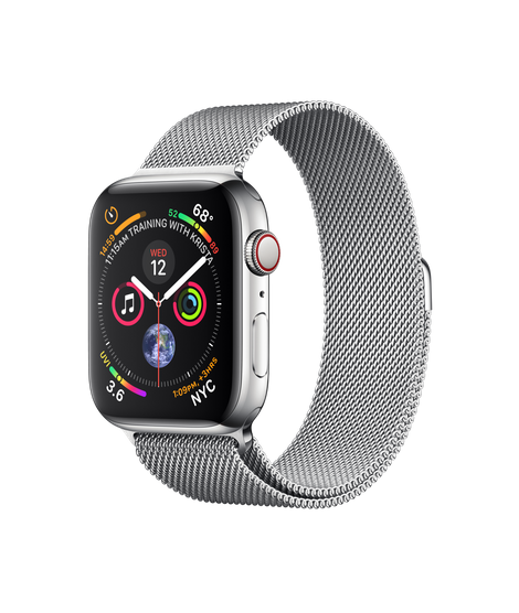 Apple Watch Series 4 44MM Stainless Steel / Milanese Loop - MTX12
