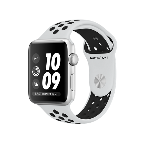 Apple Watch 42MM NIKE SILVER / BLACK MQL32