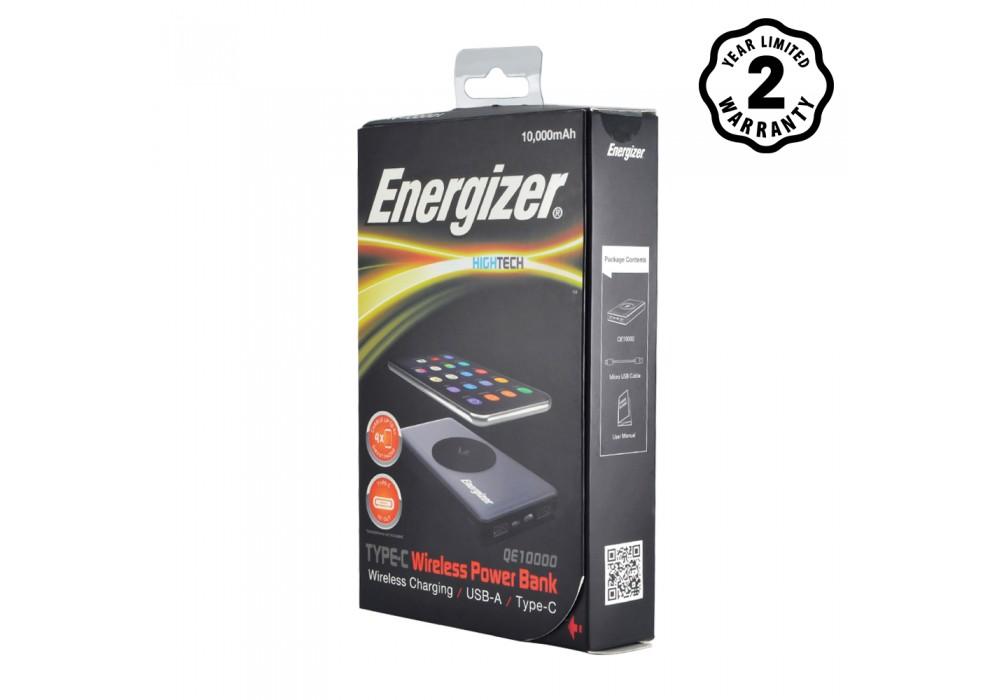 Pin sạc dự phòng Energizer 10,000mAh tích hợp sạc không dây 5W - QE10000
