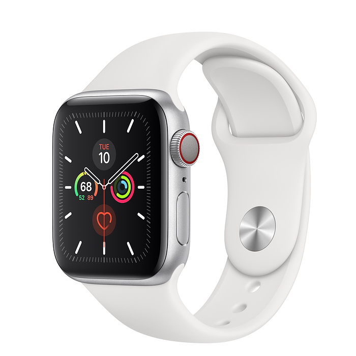 Apple Watch Series 5 LTE 40MM Silver / White Sport Band