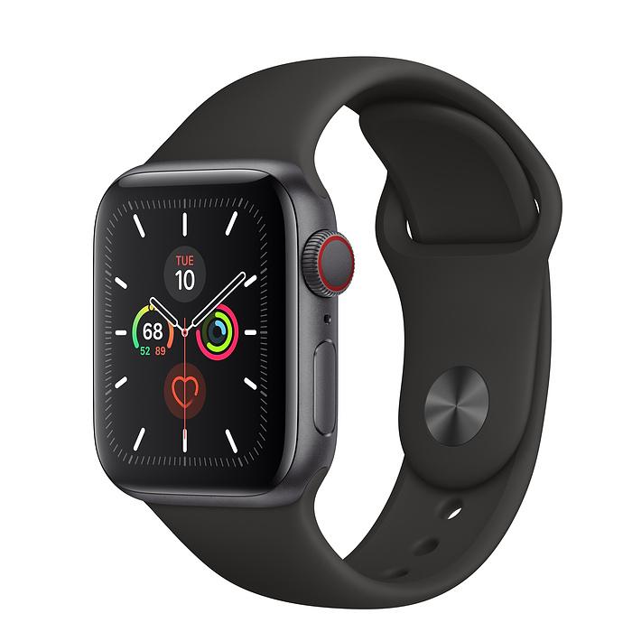 Apple Watch Series 5 LTE 40MM Gray / Black Sport Band