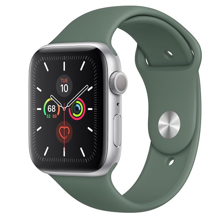 Apple Watch Series 5 GPS 44MM Silver / Pin Green